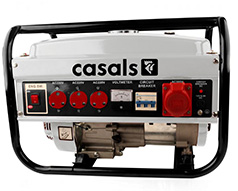 Casals Generator Recoil Start Steel Grey 3 Phase 4 Stroke 2500W