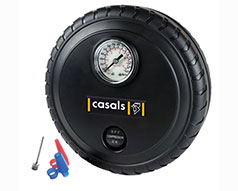 Casals Tyre Inflator With Pressure Gauge Plastic Black 250PSI 12V / 140W